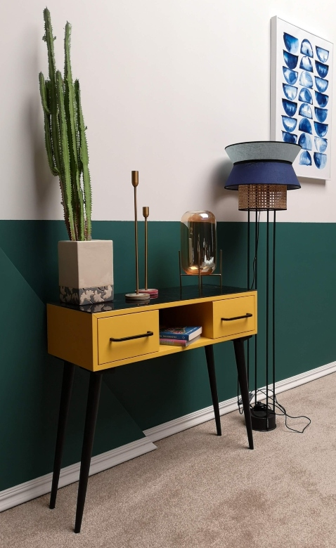 console-table-cuir-setfactory